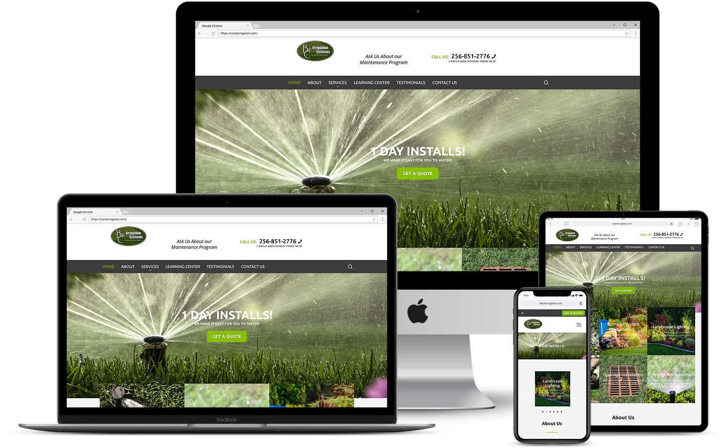 B&C Irrigation Website